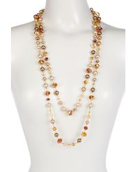 Carolee | Metallic Beaded Rope Necklace | Lyst