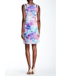 Sienna Rose Blue Sleeveless Printed Dress