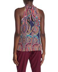 Ramy Brook Multicolor Paige Paisley Halter Tie Neck Silk Top