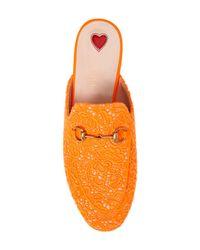 Gucci - Orange Princetown Loafer Mule - Lyst