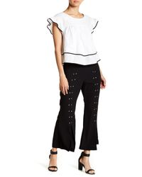 Romeo and Juliet Couture Black Studded Split Flare Pants