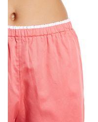 Natori - Pink Ming Pajama Shirt & Shorts 2-piece Set - Lyst