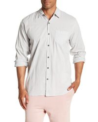Velvet By Graham & Spencer - White Front Button Long Sleeve Classic Fit Shirt for Men - Lyst