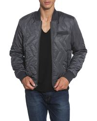 Members Only Gray Ozone Quilted Bomber Jacket for men