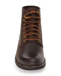 Eastland Brown 'oakwood 1955' Plain Toe Boot for men