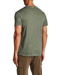 William Rast - Green Textured Graphic Tee for Men - Lyst
