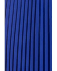 Eliza J | Blue Pleated Chiffon Maxi Dress | Lyst