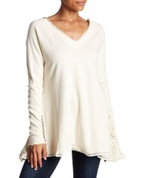 Free People - White No Frills Pullover Sweater - Lyst