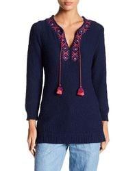 Tommy Bahama - Blue Front Tassel Knit Sweater - Lyst