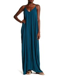 Love Stitch Blue Gauze Maxi Dress