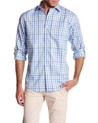 Bugatchi - Blue Gingham Shaped Fit Shirt for Men - Lyst