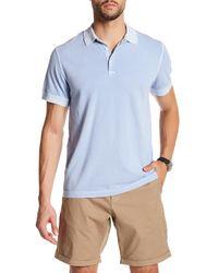 Gant   Blue Solid Pique Polo for Men   Lyst
