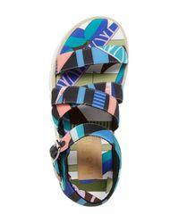 MSGM - Blue Platform Sandal (women) - Lyst