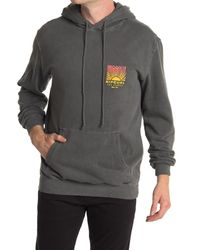 Rip Curl Gray Solar Pullover Hoodie for men