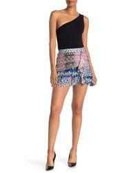 Ramy Brook Blue Estee Patterned Mini Skirt