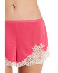 Natori - Pink Boudoir Lace Trim Short Pajama Set - Lyst
