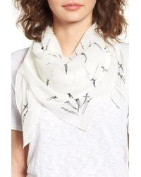 Rag & Bone - White Dagger Print Silk Scarf - Lyst