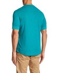 Jack Spade - Blue Short Sleeve Linen Henley Tee for Men - Lyst