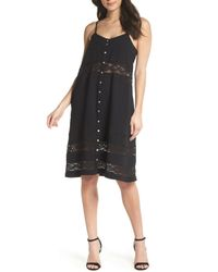 Knot Sisters - Black Annie Lace Trim Sundress - Lyst