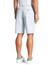 Lucky Brand Blue Twill Plain Front Short for men