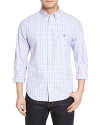 Vineyard Vines Blue Saddle Bay Tucker Classic Fit Check Sport Shirt for men