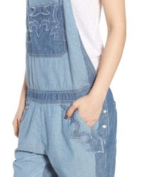 Zadig & Voltaire Blue Sidney Patch Overalls