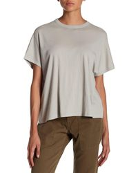Vince - Gray Ribbed Back Pima Cotton Tee - Lyst
