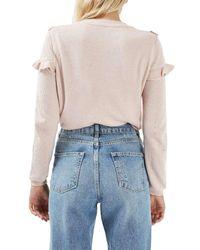TOPSHOP Pink Ruffle Yoke Sweater