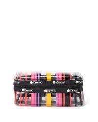 LeSportsac Multicolor Clear Stripe Print Cosmetic Bag