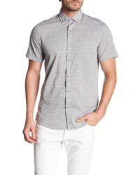 Report Collection - Gray Short Sleeve Fleck Horizon Print Shirt for Men - Lyst