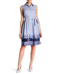 Sharagano - Blue Sleeveless Blouse Dress - Lyst