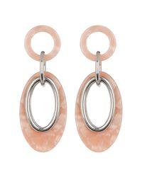 Vince Camuto Metallic Resin Link Double Drop Earrings