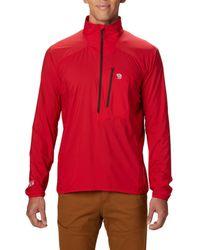 Mountain Hardwear Red Kor Preshell Pullover Jacket for men