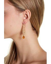 Panacea - White Wire-wrapped Bead Drop Earrings - Lyst