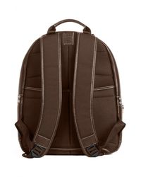Boconi - Brown 'tyler' Rfid Leather Backpack for Men - Lyst