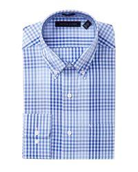 Tommy Hilfiger Blue Check Regular Fit Dress Shirt for men