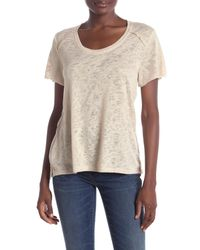 Project Social T Natural Textured Seamed Tee