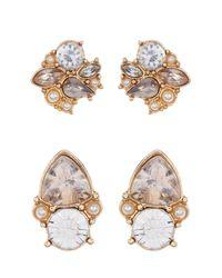 BaubleBar - White Twinkle Earrings - Set Of 2 - Lyst