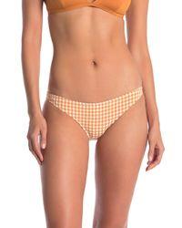 Rhythm Orange Lolita Gingham Cheeky Bikini Bottoms