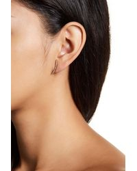 Nadri - Metallic Curved Pave Bar Earrings - Lyst