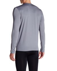 Adidas - Gray Baselayer Long Sleeve Crew Tee for Men - Lyst