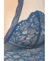 Free People Blue 'kristin' Lace Bralette