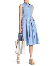 Chetta B Blue Midi Shirt Dress