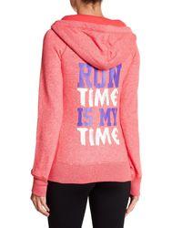 Lorna Jane Pink Run Time Pullover Hoodie