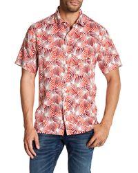 Tommy Bahama Red Shell We Dance Silk Short Sleeve Regular Fit Shirt for men