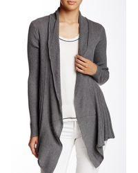 Max Studio | Gray Mixed Stitch Cardigan (petite) | Lyst