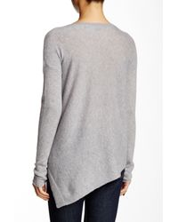 360cashmere - Gray Angie Asymmetrical Cashmere Sweater - Lyst