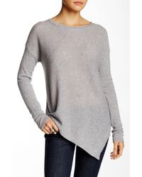 360cashmere | Gray Angie Asymmetrical Cashmere Sweater | Lyst
