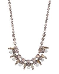 Sorrelli - Multicolor Freshwater Pearl Pave Necklace - Lyst