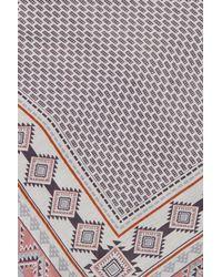 Roffe Accessories Multicolor Oversize Border Triangle Scarf